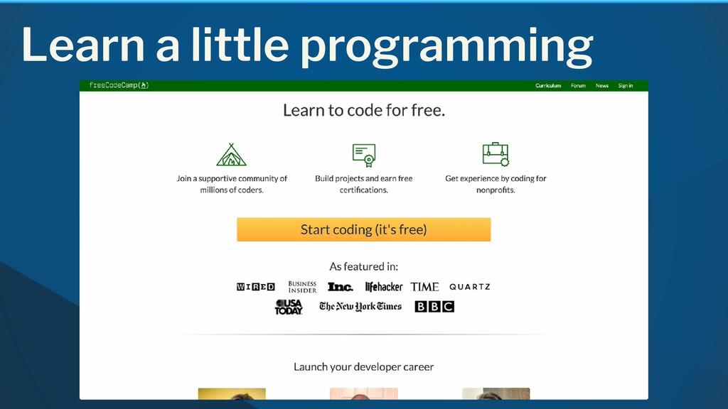 Learn a little programming