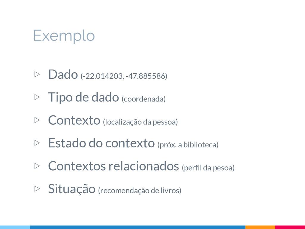 Exemplo ▷ Dado (-22.014203, -47.885586) ▷ Tipo ...