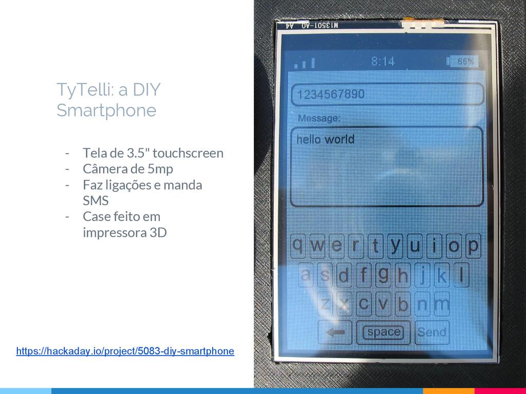 """- Tela de 3.5"""" touchscreen - Câmera de 5mp - Fa..."""