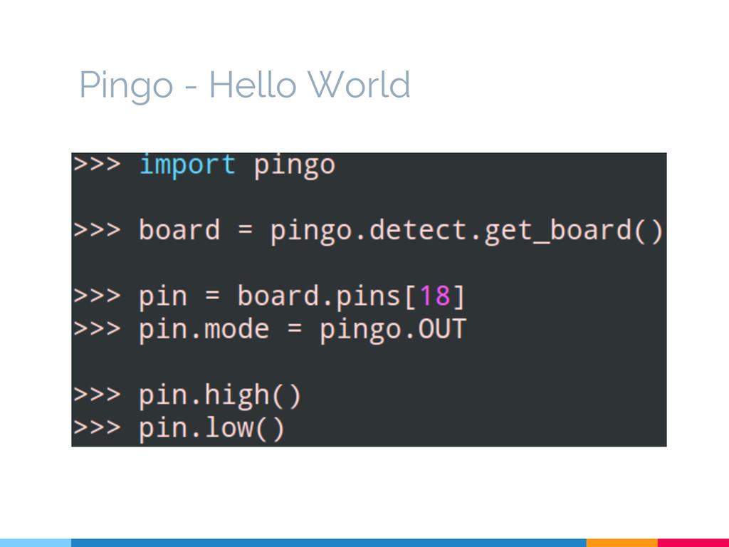 Pingo - Hello World