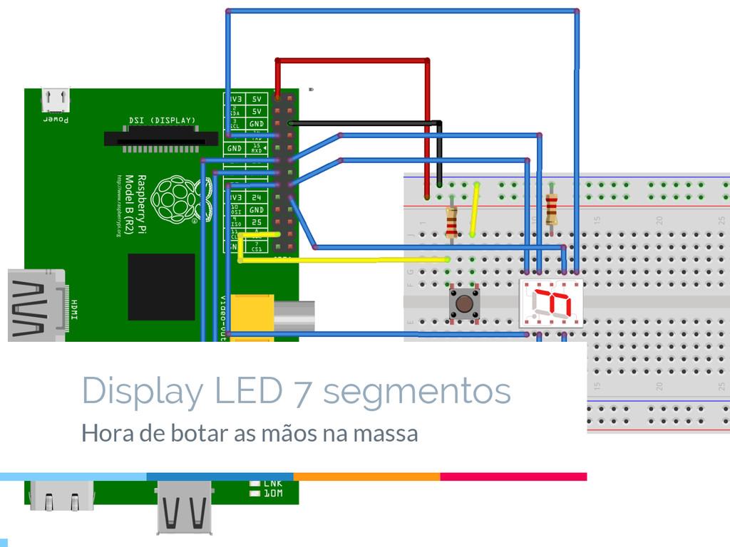 Outro exemplo Display LED 7 segmentos Hora de b...