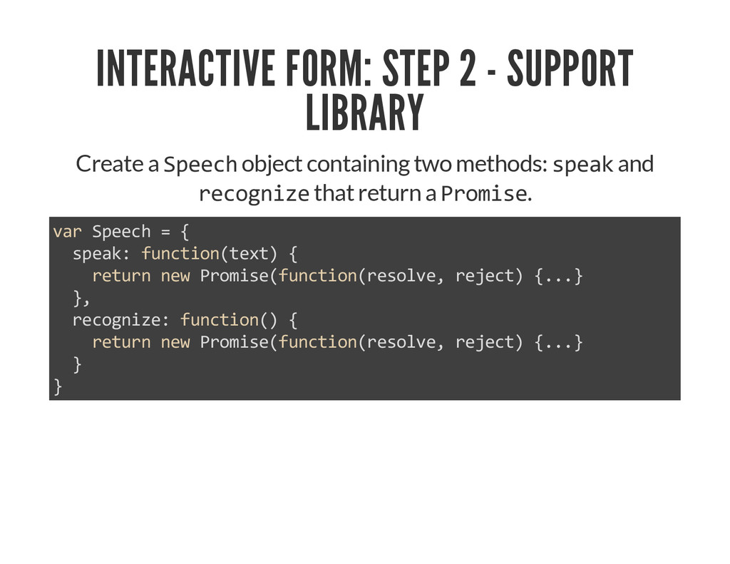 INTERACTIVE FORM: STEP 2 - SUPPORT LIBRARY Crea...