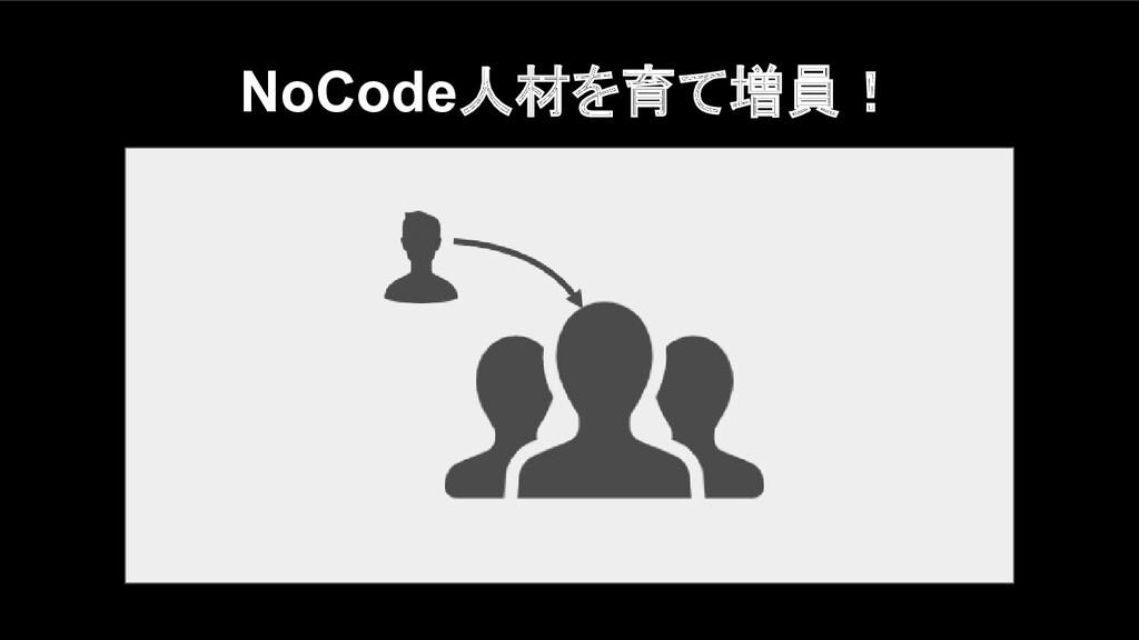 NoCode人材を育て増員!