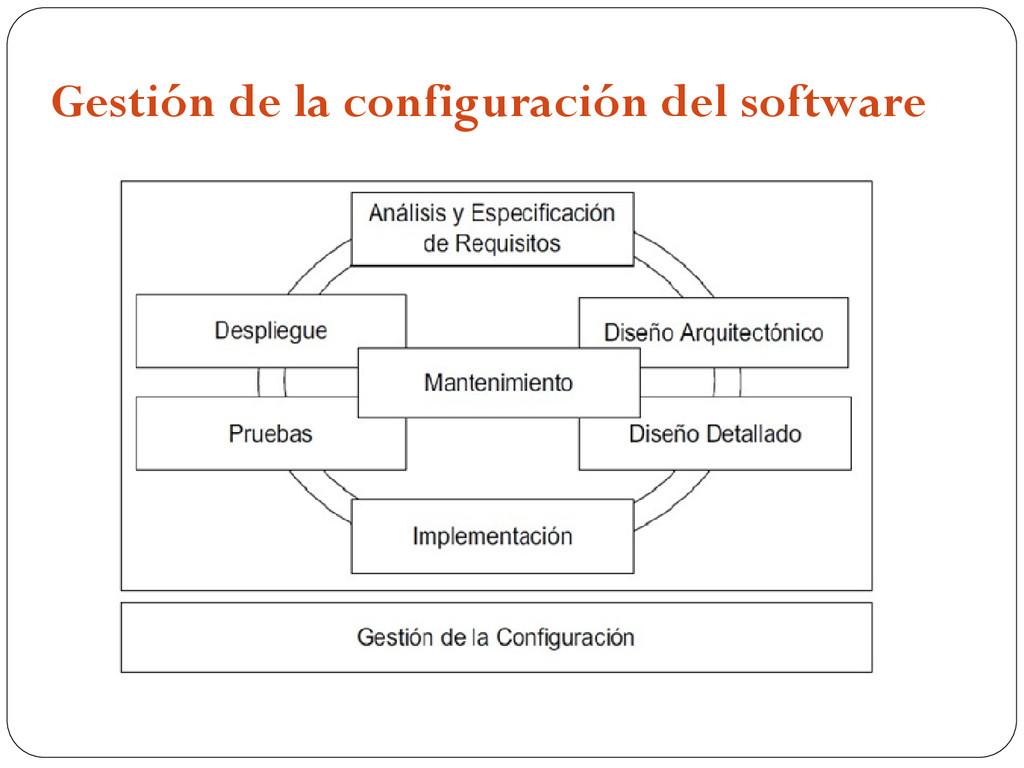 Gestión de la configuración del software