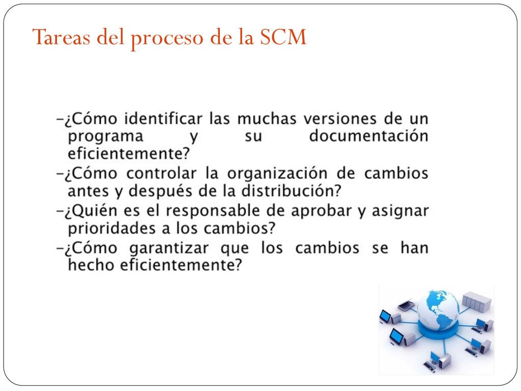 Tareas del proceso de la SCM