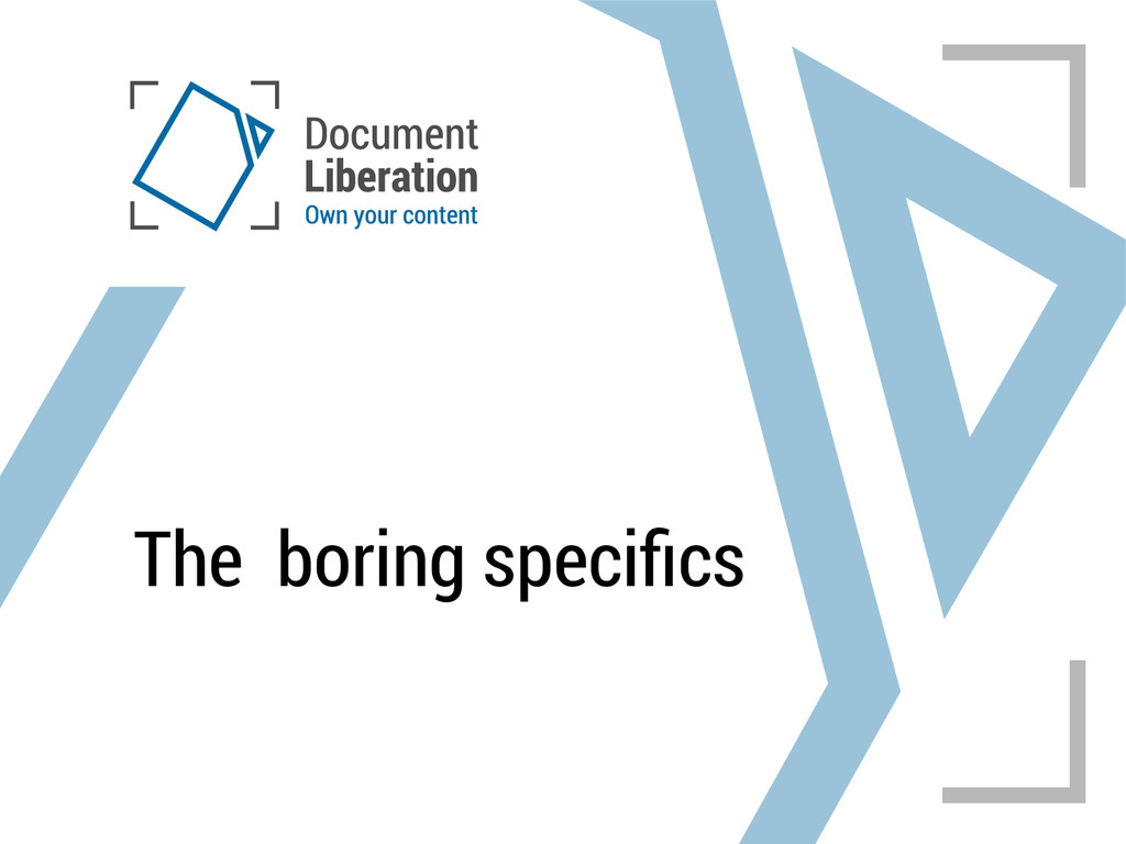 The boring specifics
