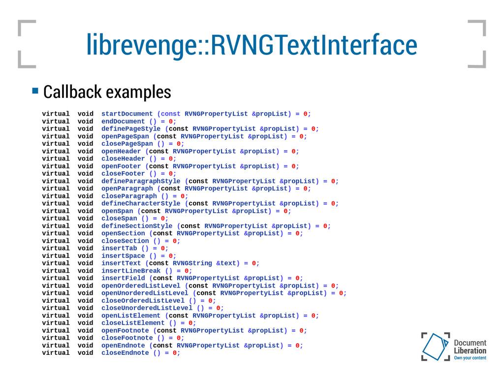 librevenge::RVNGTextInterface virtual void star...