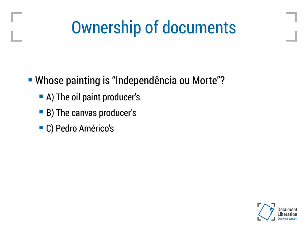 """Ownership of documents  Whose painting is """"Ind..."""