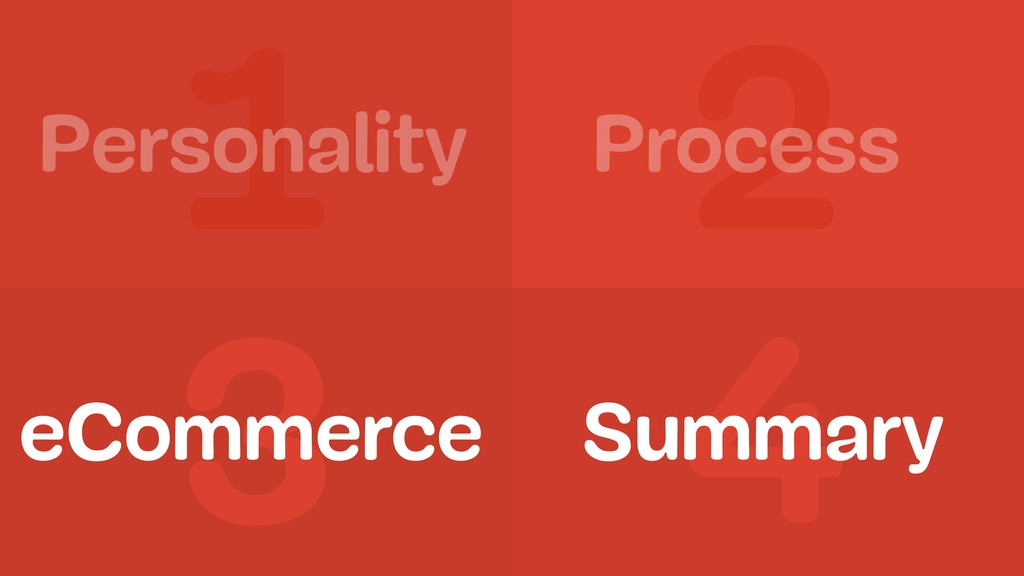 1 2 3 4 Personality Process Summary eCommerce