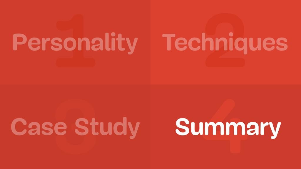 1 2 3 4 Personality Summary Case Study Techniqu...