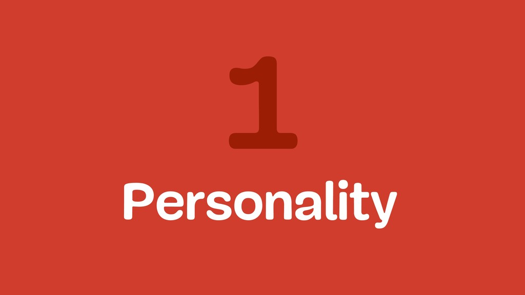 1 Personality