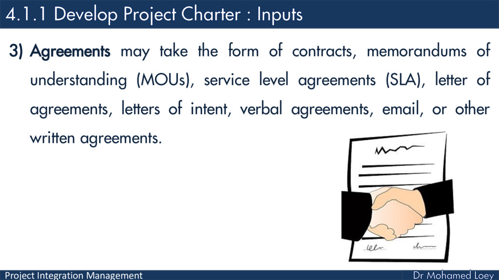 Project Integration Management 3) Agreements ma...