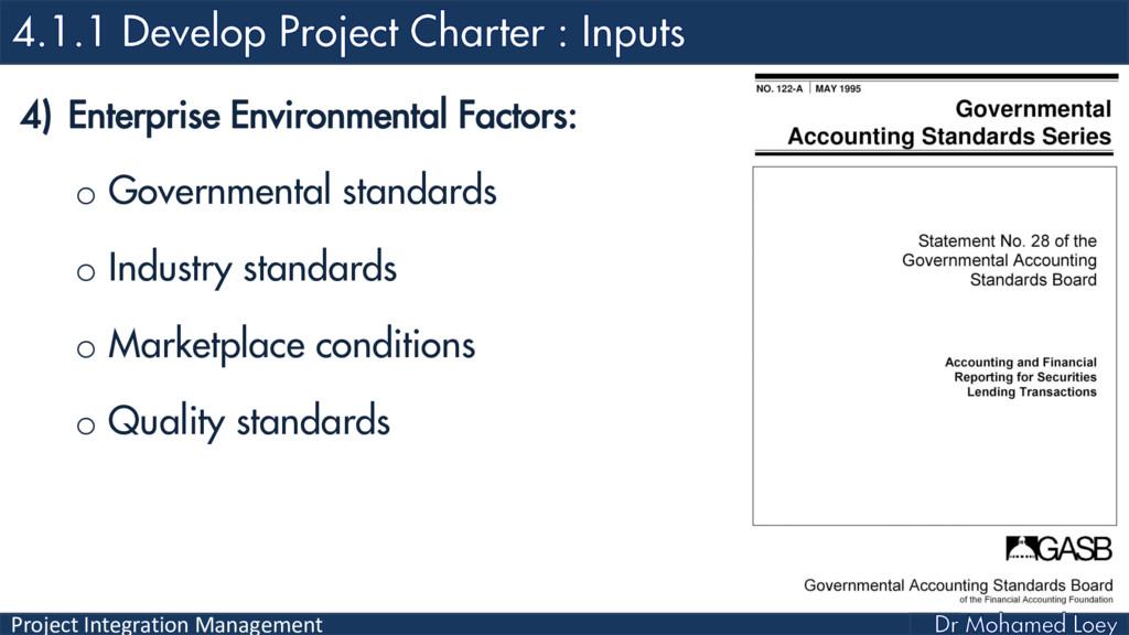 Project Integration Management 4) Enterprise En...