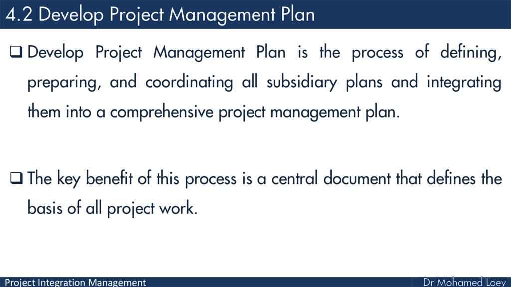 Project Integration Management  Develop Projec...
