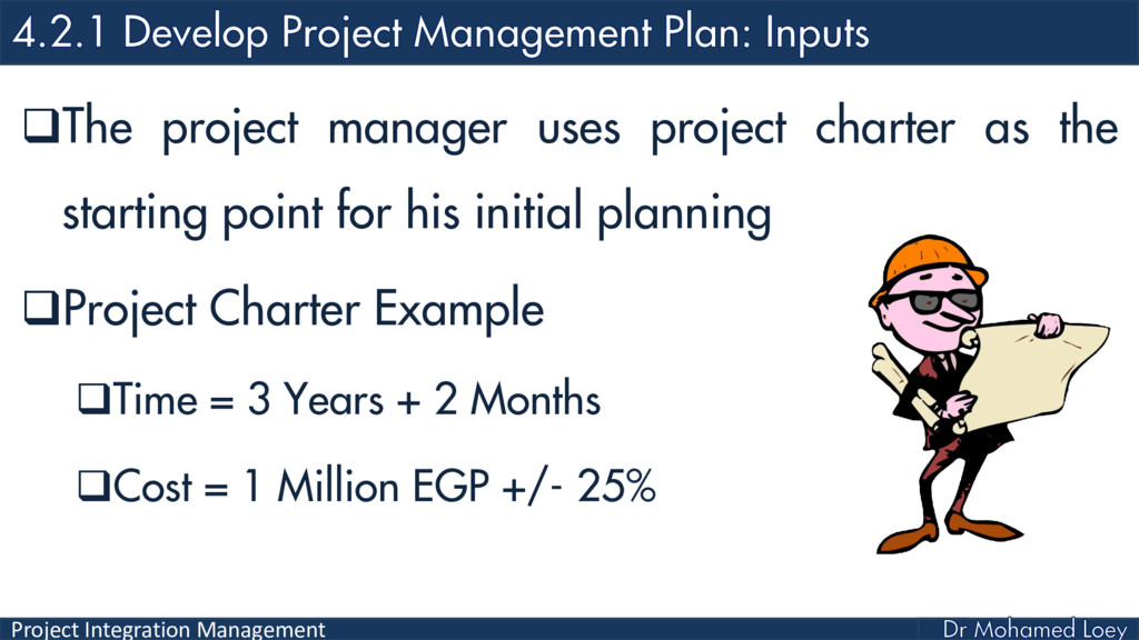 Project Integration Management The project man...