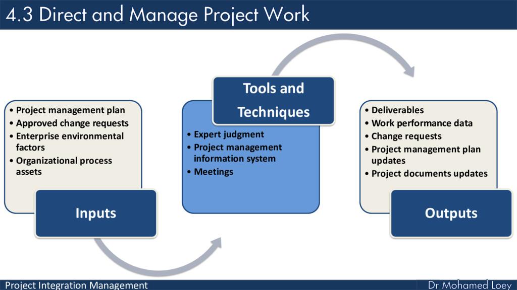 Project Integration Management • Project manage...