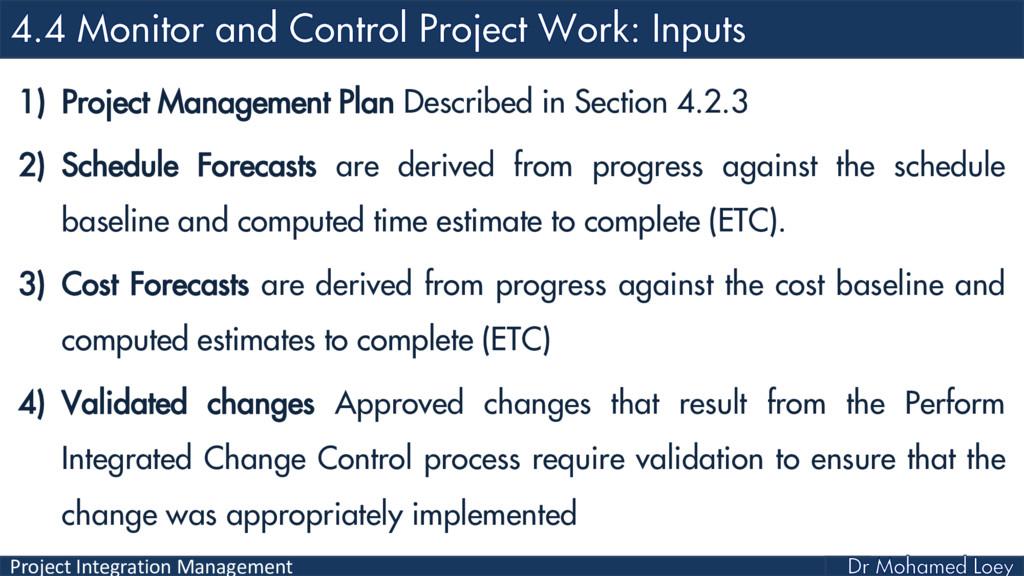 Project Integration Management 1) Project Manag...