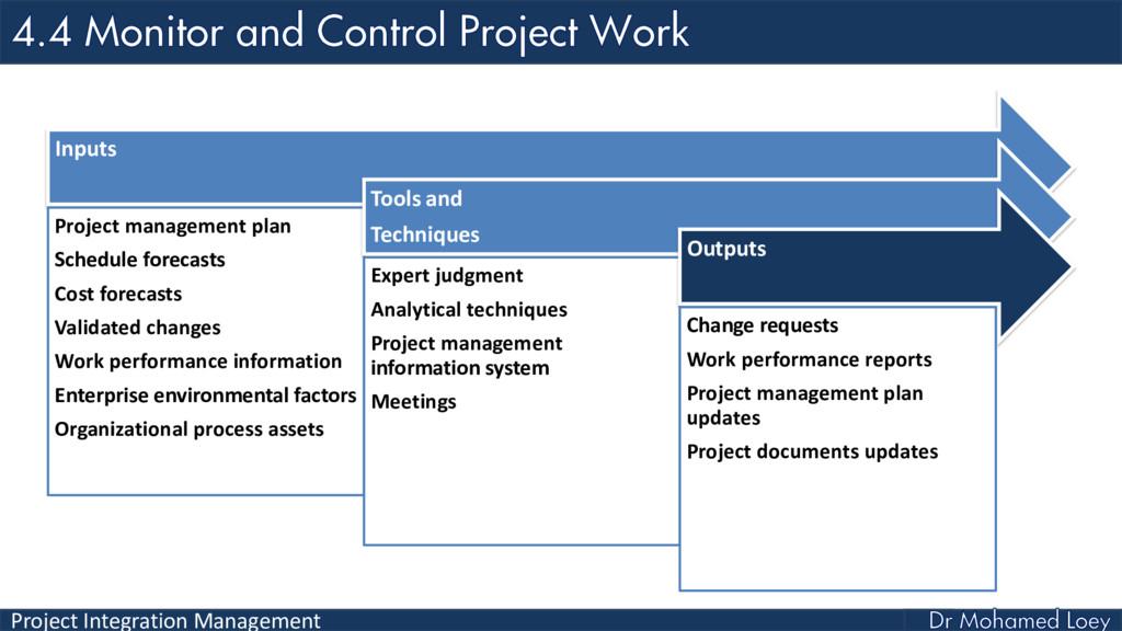 Project Integration Management Inputs Project m...