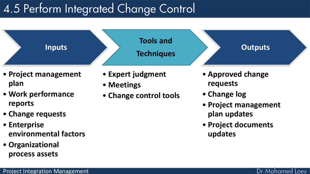 Project Integration Management Inputs • Project...
