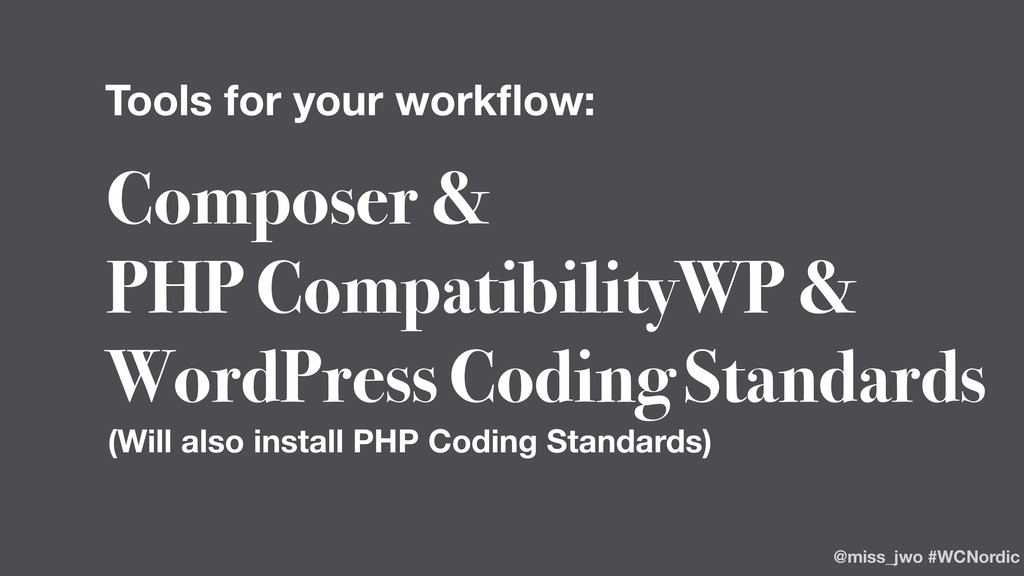Composer & PHP CompatibilityWP & WordPress Codi...