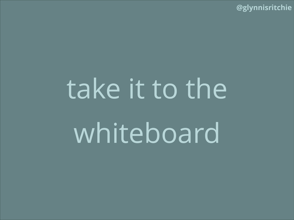 @glynnisritchie take it to the whiteboard