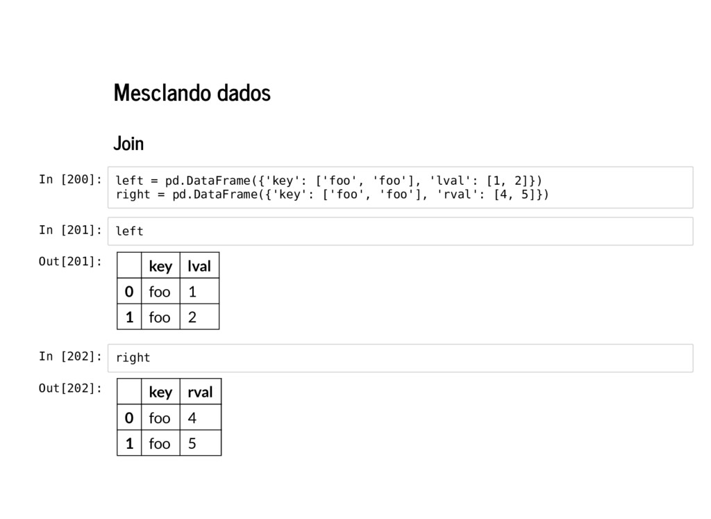 Mesclando dados Join In [200]: In [201]: In [20...
