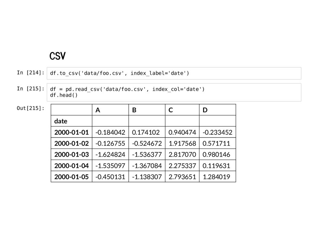 CSV In [214]: In [215]: df.to_csv('data/foo.csv...