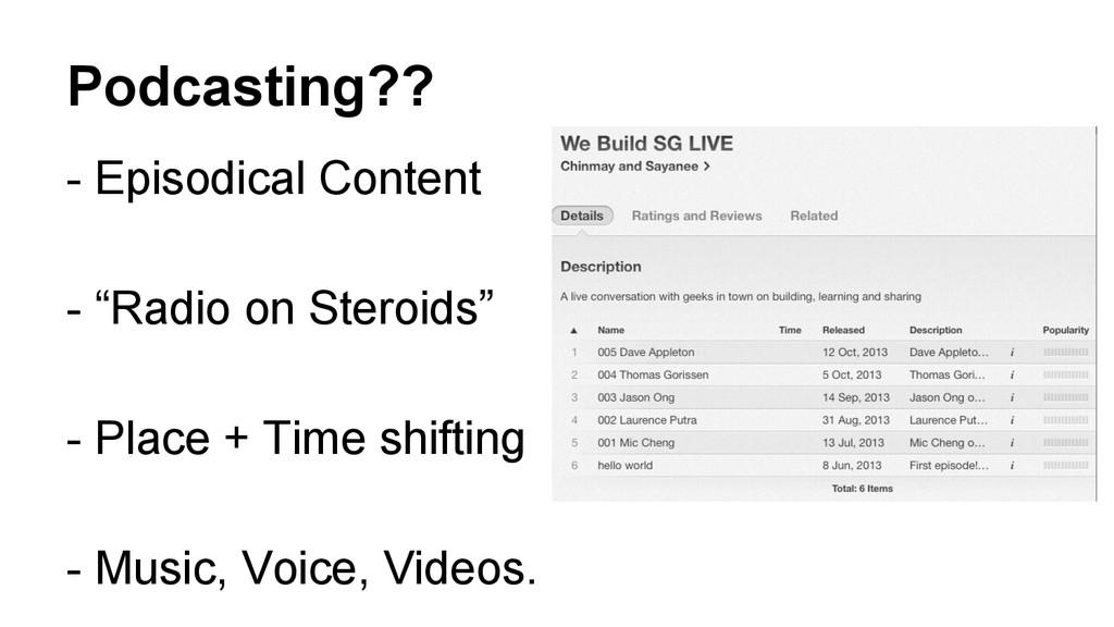 "Podcasting?? - Episodical Content - ""Radio on S..."