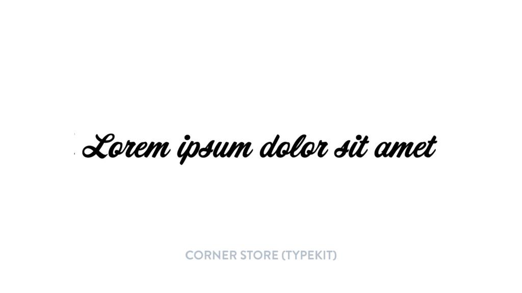 CORNER STORE (TYPEKIT)