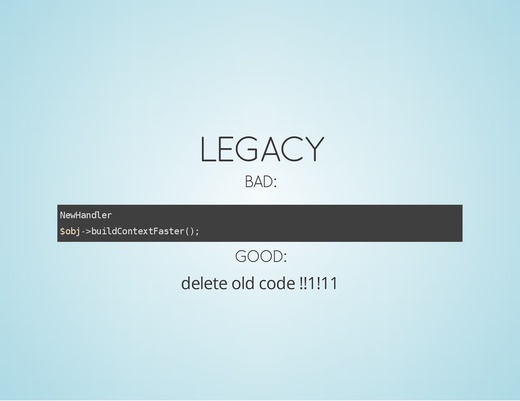 LEGACY BAD: N e w H a n d l e r $ o b j - > b u...