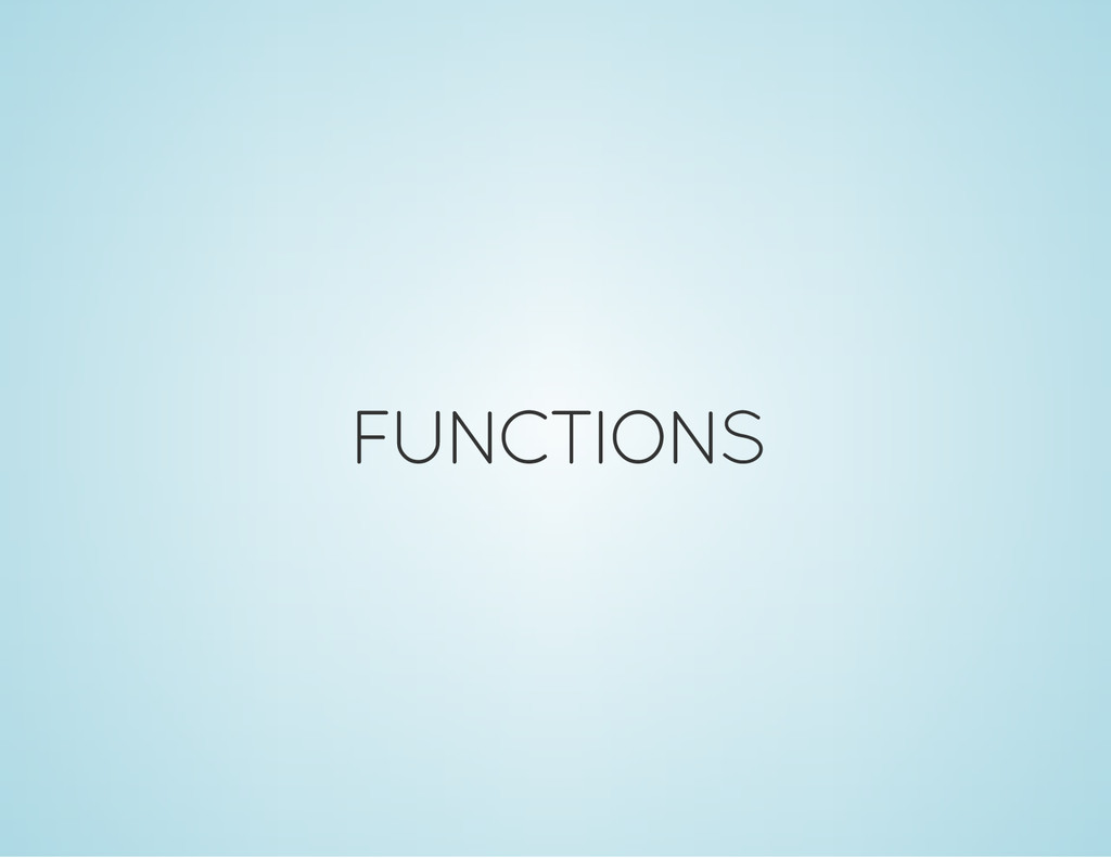 FUNCTIONS