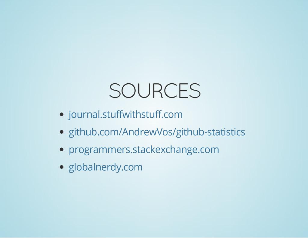 SOURCES journal.stuffwithstuff.com github.com/A...
