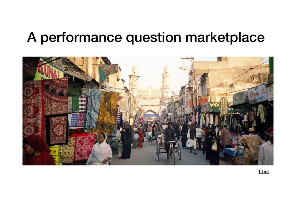 Link A performance question marketplace