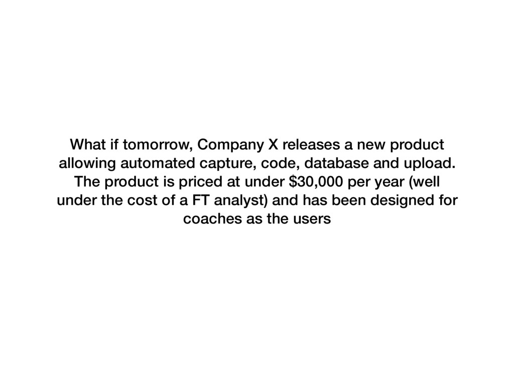 What if tomorrow, Company X releases a new prod...
