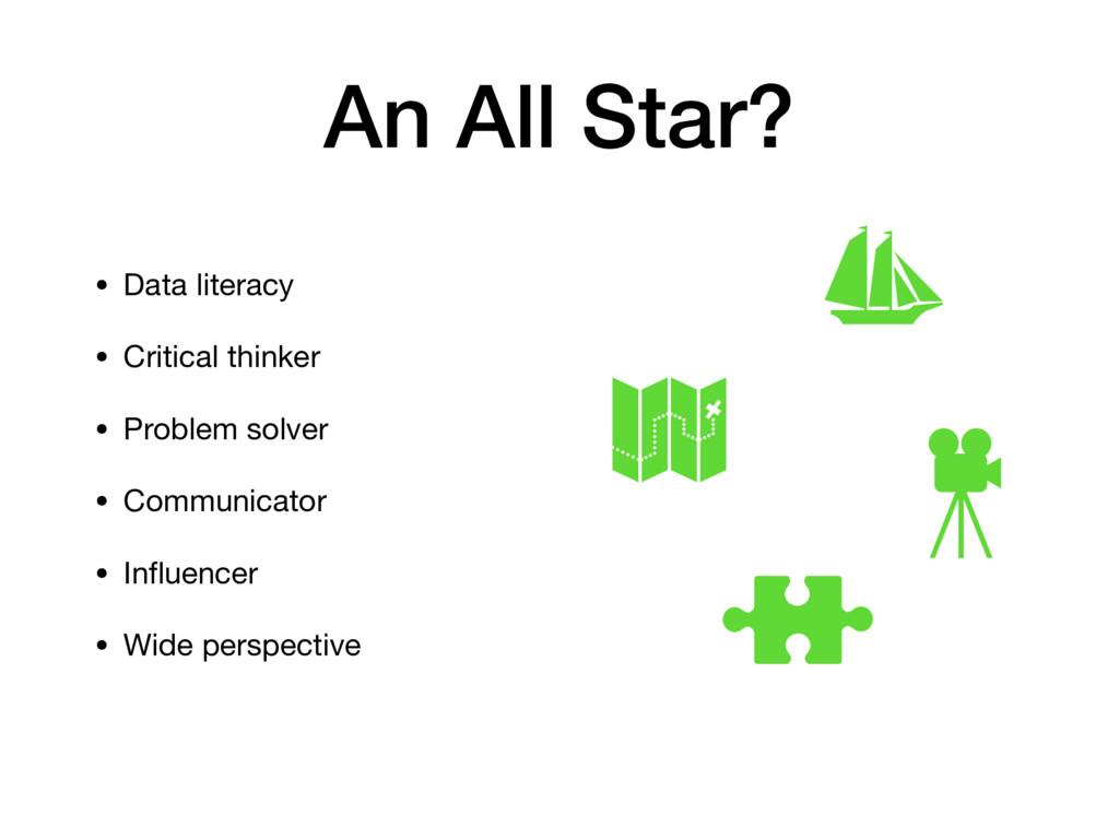 An All Star? • Data literacy  • Critical thinke...