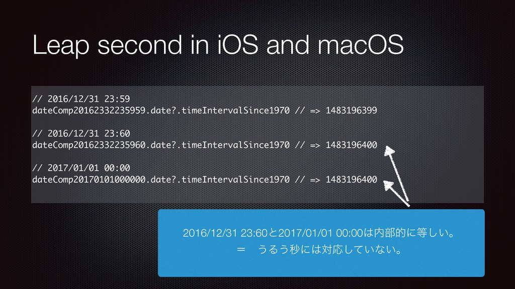 Leap second in iOS and macOS // 2016/12/31 23:5...