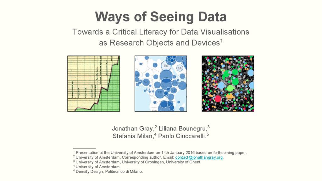 Ways of Seeing Data Towards a Critical Literacy...