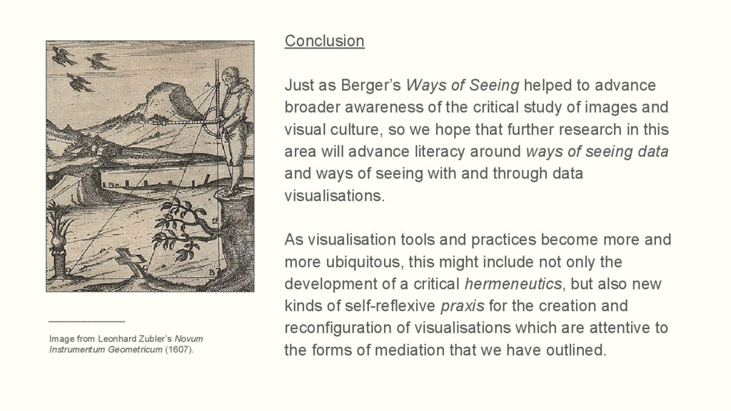 Conclusion Just as Berger's Ways of Seeing help...