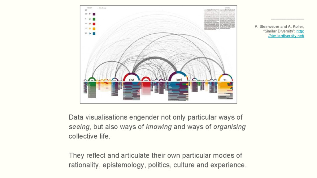 Data visualisations engender not only particula...