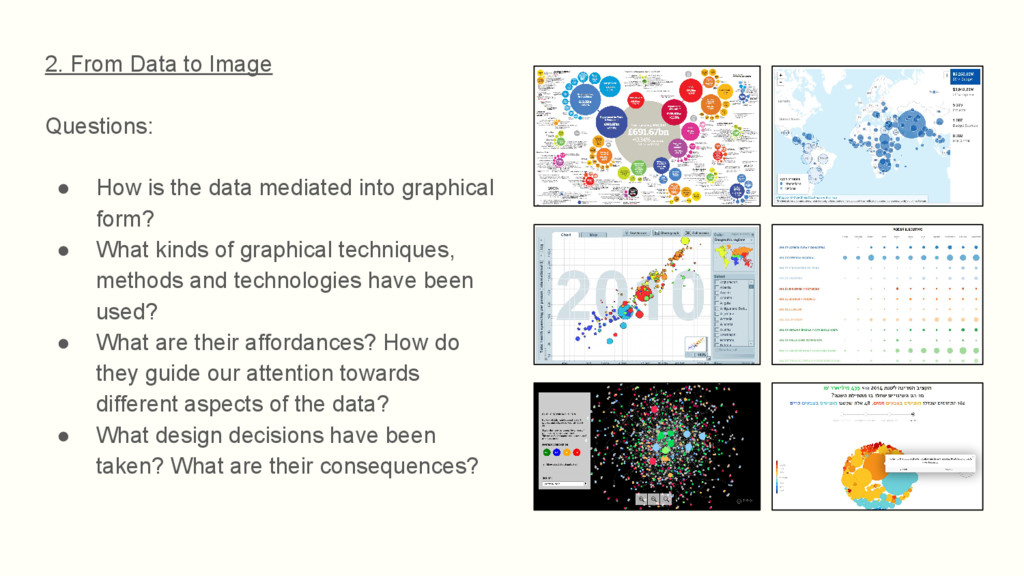2. From Data to Image Questions: ● How is the d...