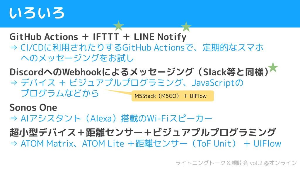 いろいろ GitHub Actions + IFTTT + LINE Notify ⇒ CI/...