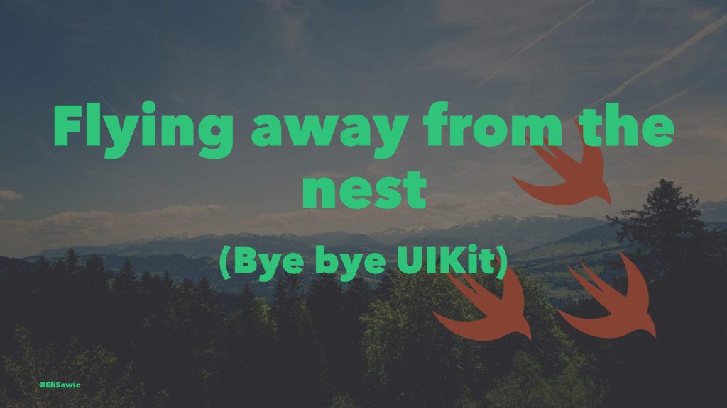 Flying away from the nest (Bye bye UIKit) @EliS...
