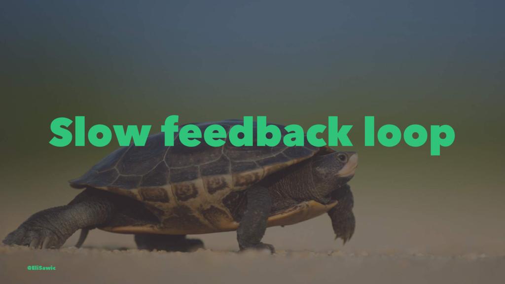 Slow feedback loop @EliSawic