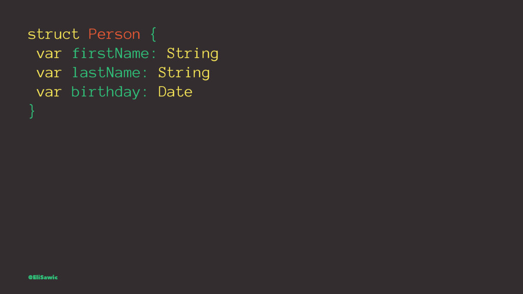 struct Person { var firstName: String var lastN...