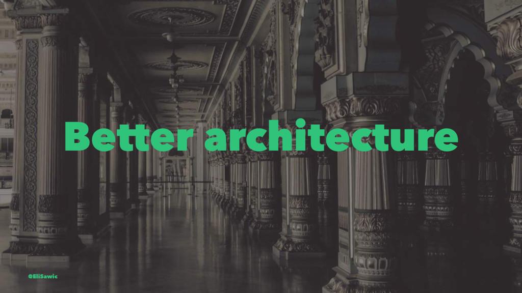 Better architecture @EliSawic