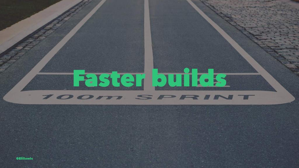 Faster builds @EliSawic