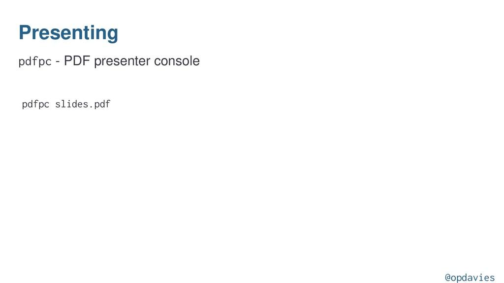 Presenting pdfpc - PDF presenter console pdfpc ...