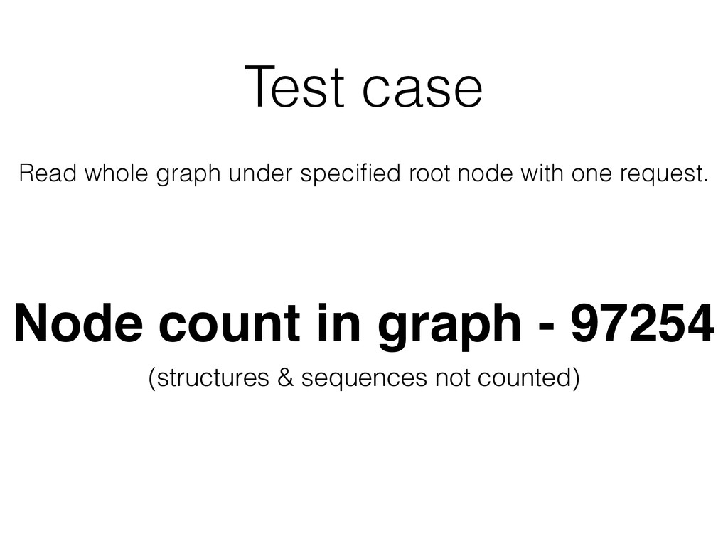 Test case Read whole graph under specified root ...