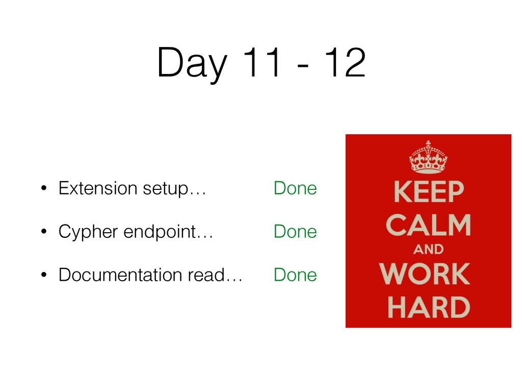 Day 11 - 12 • Extension setup… • Cypher endpoin...