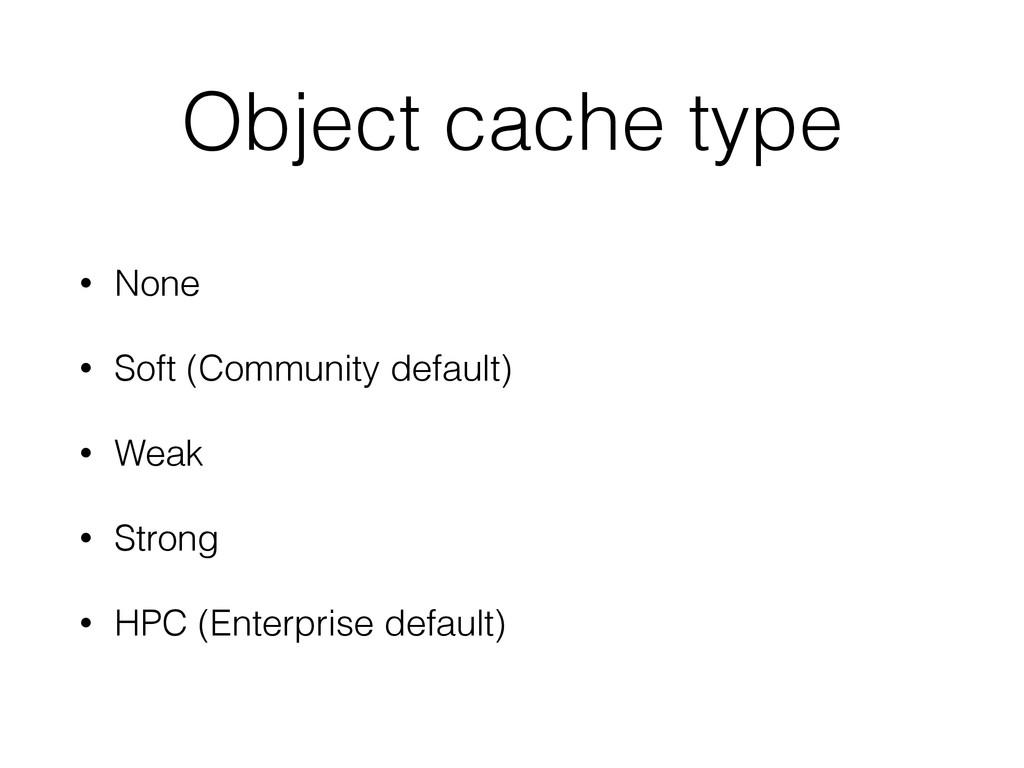 Object cache type • None • Soft (Community defa...